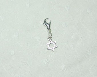 Silver Star Phone Charm and Lobster Clasp