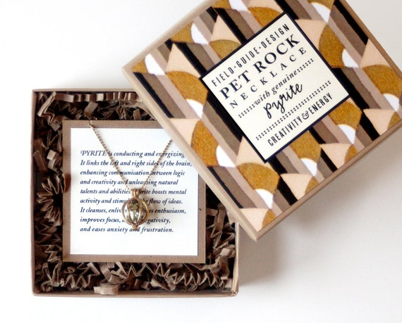 Pyrite Pet Rock Necklace for Creativity and Energy