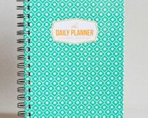 Daily Planner - Mint Trellis (60 days undated planner)