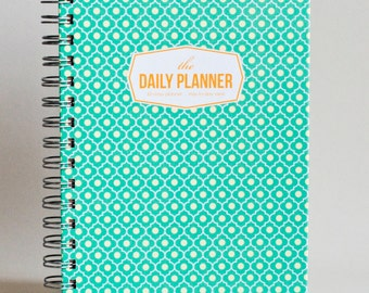 The Daily Planner - Mint Trellis (60 days planner)
