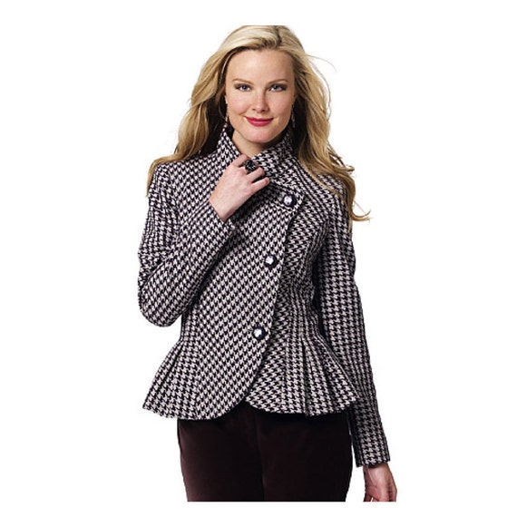 Drape Jacket Pattern Draped Neckline Peplum Jacket