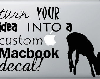 FREE SHIPPING Create Your Own Macbook/Laptop Decal Custom Size and Color