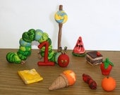 The Very Hungry Caterpillar Large Set - Clay Cake Topper