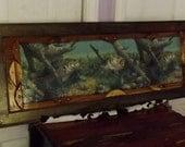 Bass print on Barnwood Cabinet Frame