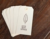 Hand Stamped Gift Tags / Set of eight