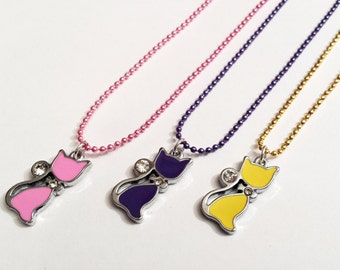 Sale! Crystal kitty cat Necklace