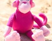 Pink Monkey Stuffed Plush