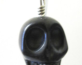 Big Daddy Pumpkin Black Sugar Skull Key Ring Pendant Keychain