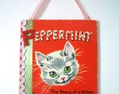 Vintage 1950 Children's Book Cover Wall Hanging - Peppermint
