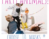 Party Animals! Party Pack- 10 Masks