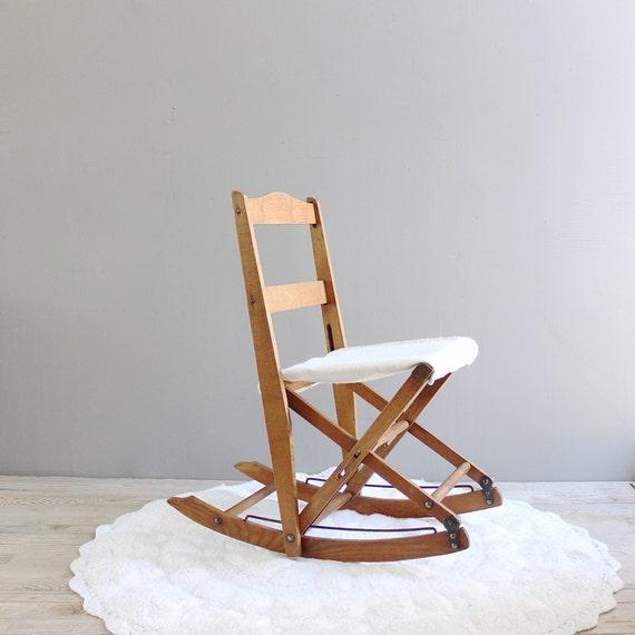 Vintage Child s Folding Rocking Chair