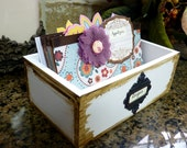 "Recipe Box and Dividers - ""Cupcake Queen"""