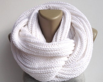 Knitted Scarf Winter Scarf Women Knit Infinity Scarf Scarves Men Scarf Women Winter Accessories Valentines Day Gifts senoaccessory