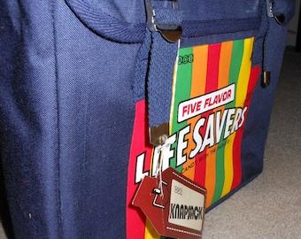 NOS Livesavers Backpack School Bag 80s Knapsack Book Bag 5 Flavor Candy
