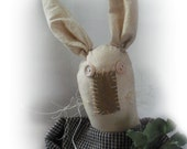 Primitive Rabbit Doll, Marge with Carrot