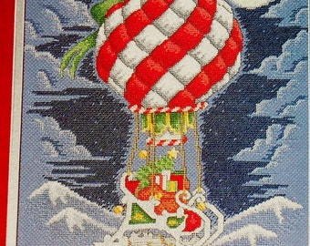 Gary D. Hanner SANTA'S Midnight Flight Christmas - Counted Cross Stitch Pattern Chart - fam
