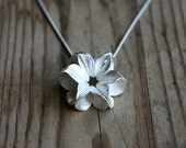 Floral Pods 6 Follicle Pendant, cast silver pendant necklace