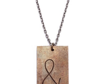 End of season SALE - Ampersand necklace - Antiqued Brass - Great anniversary gift  - Solid brass
