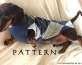 Sewing Pattern for Dachshund Sweater & Snood