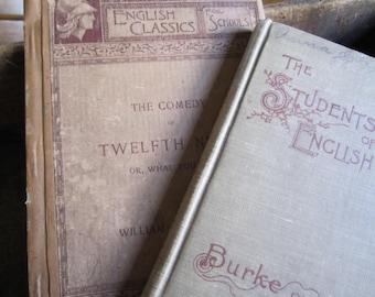 Antique Books Student Edition English Classics Books Literature Shakespeare