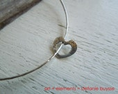 "ARTisan Made ""Open Heart"" Bangle - Fine Silver - Sterling Silver - OOAK"