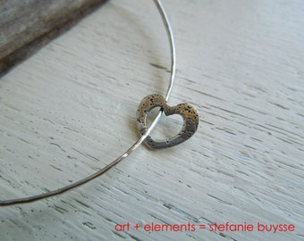 "ARTisan Made ""Open Heart"" Bangle - Sterling Silver - OOAK"