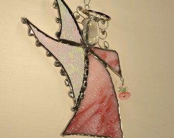 Angel - Christening -Confirmation - Communion -Gift - Stained Glass - Art - Custom - Baby Shower - Made In The USA - Art Nouveau - Boho