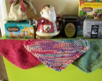 Handknitted Wash or Dish cloths ,Mug keeps Plant keeps Great Gifts