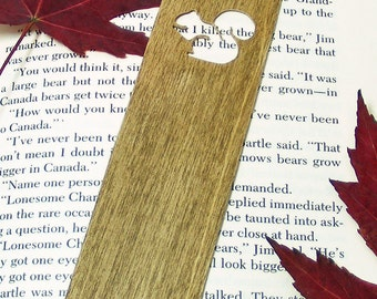 Wooden Bookmark with Squirrel