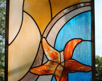 Starfish Emerging  -  Leaded Stained Glass Window