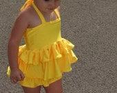 Yellow Princess Swimsuit