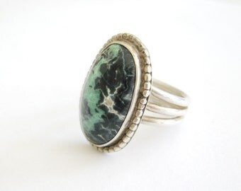 Apache Turquoise Ring in Sterling Silver