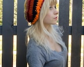 Knitted Slouchy Beanie: The Ugly Hat in Sun Spot Tones