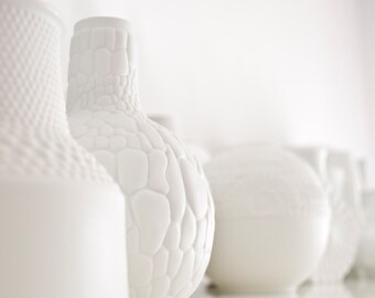 Mid Century Matte White Porcelain Reptile Vase by AK Kaiser