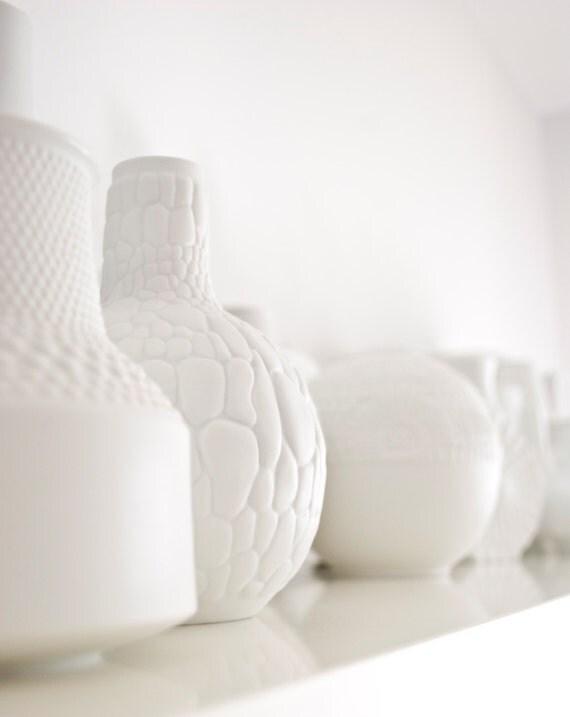 Mid Century Matte White Porcelain Reptile Vase // AK Kaiser // Modern Home Decor