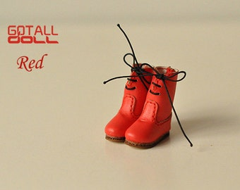 20% OFF - GOTALL doll handmade String Boots for Blythe doll - doll shoes - Red