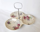 Midwinter chintz - 3 dish tray, condiment tray with handle