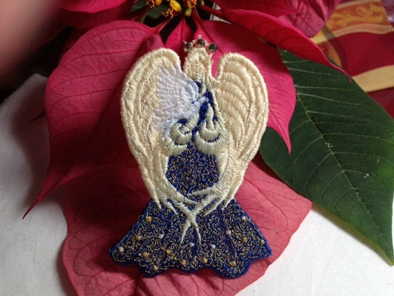 Lace Angel of Peace with Dove...can be made to order