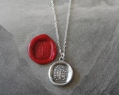 Go With The Flow - weathervane wax seal necklace - antique French wax seal jewelry in fine silver