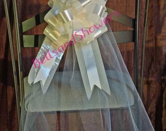 Pew Bows Chair Sashes  - Wedding, Banquet, Reception