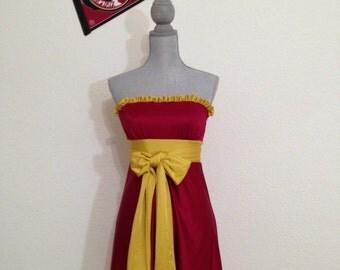 "Game day Dress FSU Garnet and Gold.  Noles ""Little Miss Huddle Up"""