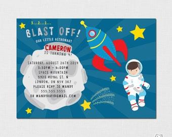 Space Invitation - Rocket Invitation - Space Birthday - Astronaut Invitation - Sci-Fi Party - Rocketship - Printable