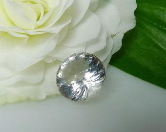 Herkimer Diamond, Herkimer Loose Stone, Round Cut Gemstone, Faceted Herkimer, Portuguese Cut