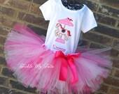 Carousel Pony Birthday Tutu Outfit-Pink Carousel Pony Tutu Set-Carnival Party Tutu Set-Circus Party Tutu Outfit-First Birthday Carousel Set