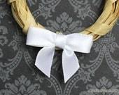 Reserved for Debbi 148 Mini WHITE Satin Bows