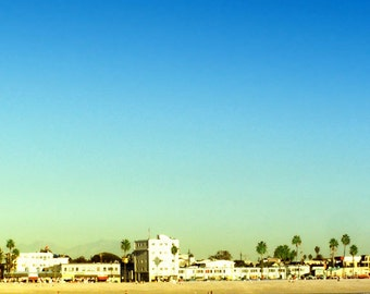 Venice Beach Photography, California, Beach Decor, Moon Ocean Photography, Venice Beach Wall Art