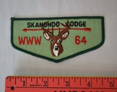 1964 Skanondo Lodge # 64 WWW Boy Scout Patch