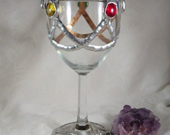 Medieval Renaissance Chalice Goblet / Fantasy Gothic Wedding Handfasting Toasting Wine Goblet / Wicca Pagan Magic Ritual Altar Feast Chalice