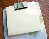 sticky note holder  mini-clip board,  magnetic memo holder - dragonflies