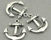 Anchor Rope Charms Antique Silver 6pcs zinc alloy pendant beads 19X22mm CM0554S